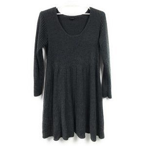 Lane Bryant Ribbed Charcoal Cozy Sweater Dress